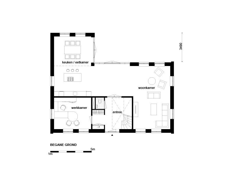Casco woning klassiek notariswoning begane grond for Wat kost een huis laten schilderen