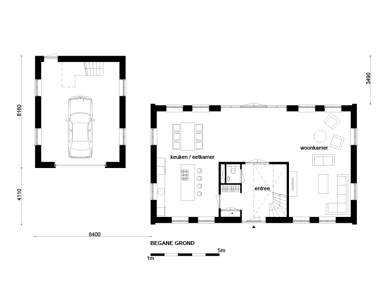 Casco woning klassiek notariswoning garage for Wat kost eigen huis bouwen
