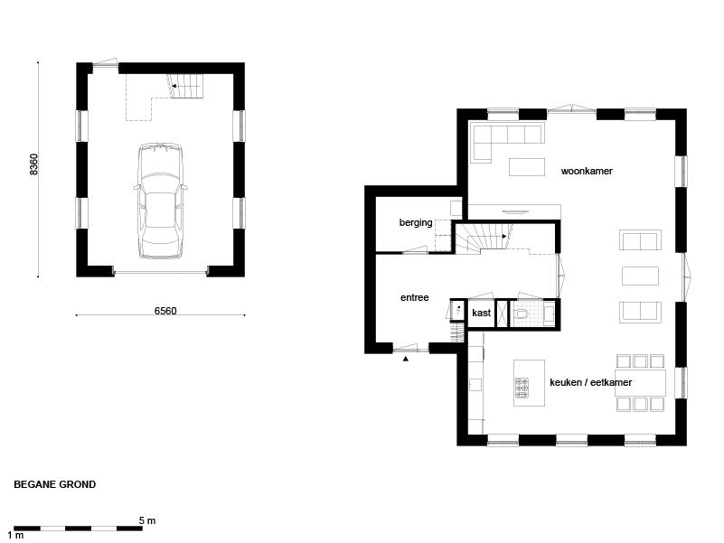 Casco woning landelijk t kap garage for Wat kost zelf een huis bouwen