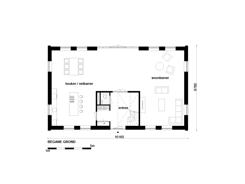 Casco woning klassiek notariswoning afmetingen woning for Wat kost een huis laten schilderen