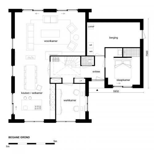 Casco woning moderne notariswoning begane grond for Wat kost eigen huis bouwen