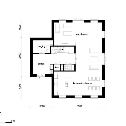 Casco woning landelijk t kap afmetingen woning for Wat kost zelf een huis bouwen