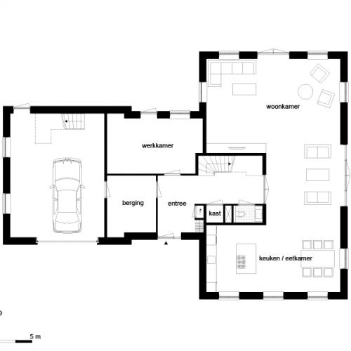 Casco woning landelijk t kap garage for Wat kost bouwen huis